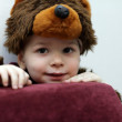 Stock Photo: Kid in bear suit
