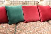Cushions on sofa — Stock Photo