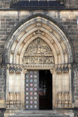 Main door of the cathedral — Stock Photo