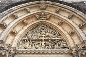 View of tympanum of St Peter and St Paul basilica — Stock Photo