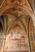 Baroque fresco overlooking Visegrad — Stock Photo