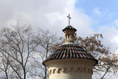 Top of turret of Vysehrad cemetery — Stockfoto