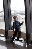 Boy at airport — Stock Photo