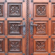 Fragment door of church of St. Ludmila — Stock Photo