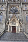 Facade of church of St. Ludmila — Zdjęcie stockowe