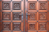 Fragment door of church of St. Ludmila — ストック写真