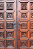 Part door of church of St. Ludmila — Stock Photo