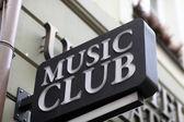 Music club sign — Stock Photo