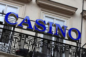 Blue casino sign — Foto Stock
