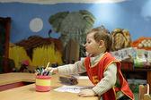 Child at kindergarten — Stock Photo