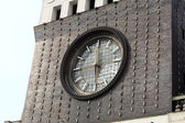 Clock tower of church of the Sacred Heart of Jesus — Стоковое фото