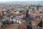 Prague from TV Tower observatory — Stock Photo