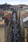 Hybernska street in Prague — Stockfoto