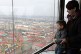 Family at observatory in Prague — Photo