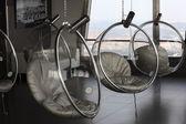 Szklane krzesła w obserwatorium okrągły — Zdjęcie stockowe