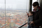 Mother with son at observatory in Prague — 图库照片