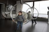 Boy in observatory — Стоковое фото
