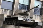 Monument of soviet tank — Stock Photo