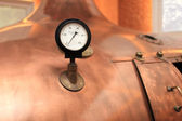 Old thermometer on the tank — Stockfoto