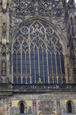 Weergave van venster st. vituskathedraal — Stockfoto