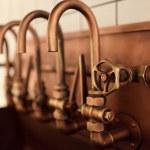 Copper taps — Stock Photo #48329413