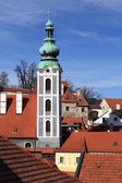 Details of St. Jost Church in Cesky Krumlov — Stock Photo
