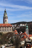 Landscape of Cesky Krumlov Castle — Stock Photo