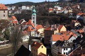 Landscape of St Jost Church in Cesky Krumlov — Stock Photo