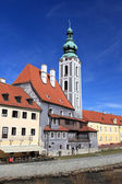 St. Jost Church in Cesky Krumlov — Foto de Stock