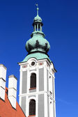 Tower of St. Jost Church in Cesky Krumlov — Foto Stock