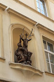 Saint Hubert with a deer — Stockfoto