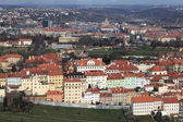 Landscape of residential quarter from Petrin hill — Stock Photo