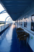 Details of deck and cabins — Stock Photo