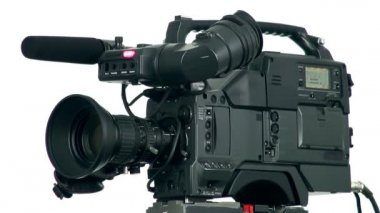 Professional digital video camera. — Stock Video
