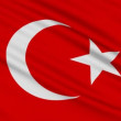 Turkish flag, with real structure of a fabric — Video Stock
