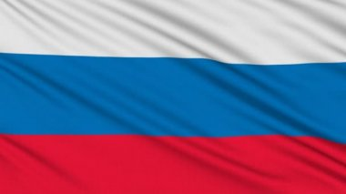 Russia flag, with real structure of a fabric — Stock Video