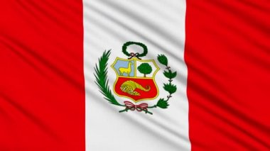 Peruvian flag, with real structure of a fabric — Stock Video
