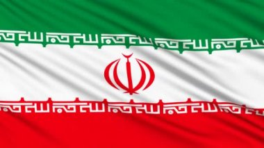 Iran flag, with real structure of a fabric — Stock Video