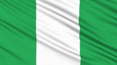 Nigeria flag, with real structure of a fabric — Vidéo
