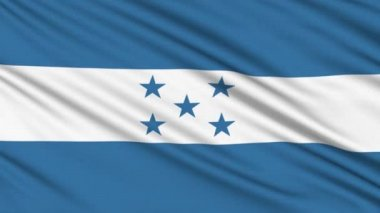 Honduras flag, with real structure of a fabric — Stock Video #12563076