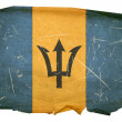 Barbados Flag old, isolated on white bac — Stock Photo #1279364