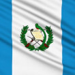 Guatemalan Flag, with real structure of a fabric - Stock Photo