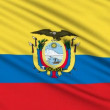 Ecuadorian Flag, with real structure of a fabric - Stock Photo