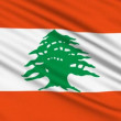 Lebanese Flag, with real structure of a fabric — Stockvideo