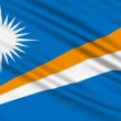 Marshall Islands Flag, with real structure of fabric — Stock Video #12760791