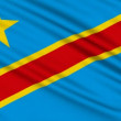 Congo Flag, with real structure of a fabric — Stock Video #12800748