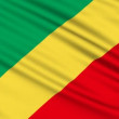 Republic of the Congo Flag, with real structure of a fabric — Stock Video