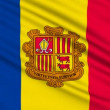 Andorra Flag, with real structure of a fabric — Stock Video