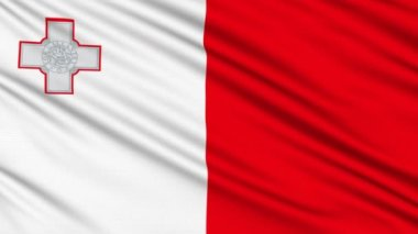 Maltese Flag, with real structure of a fabric — Stock Video