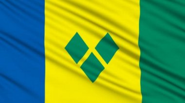Saint Vincent and the Grenadines Flag — Stock Video #12807614